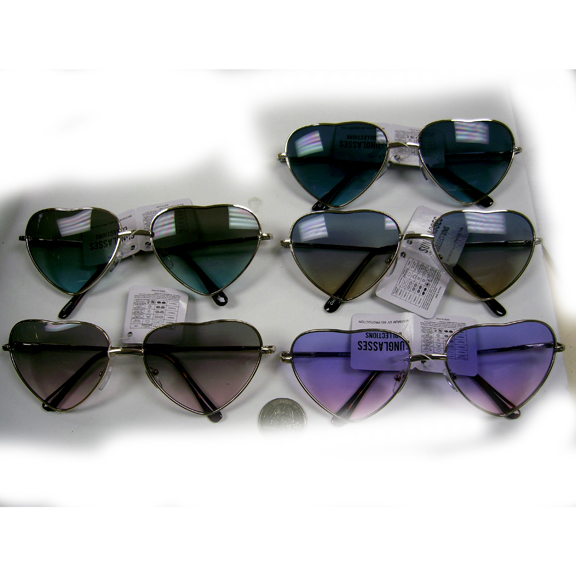 HEART SHAPE, OCEAN LENS SPRING TEMPLE QUALITY SUNGLASSES